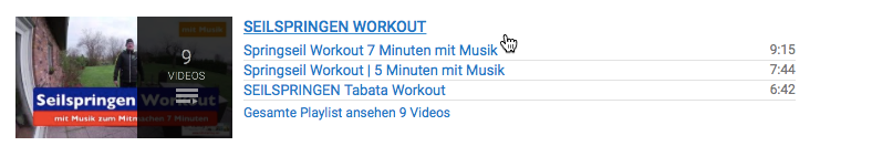 Seilspringen-Workout