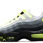 Nike Mens Air Max 95 Neon OG Patch SP White Neon Yellow Trainer Size 10 UK