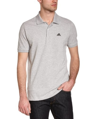 adidas Herren Poloshirt Essentials, medium grey heather, M, X19176 - 1
