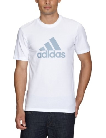 adidas Herren T-Shirt Essentials Logo Tee Men White/Silver L - 1