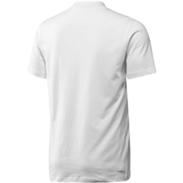 adidas Herren T-Shirt Essentials Logo Tee Men White/Silver L - 2