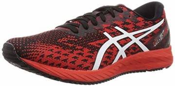ASICS Mens Gel-DS Trainer 25 Running Shoe, Fiery Red/White - 1
