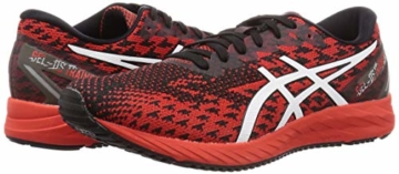 ASICS Mens Gel-DS Trainer 25 Running Shoe, Fiery Red/White - 5
