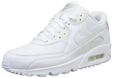 Nike Air Max 90 Leather Herren Sneakers, weiß (white/white), 43 EU - 1