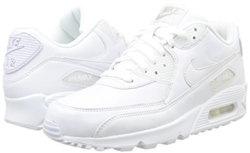Nike Air Max 90 Leather Herren Sneakers, weiß (white/white), 43 EU - 11
