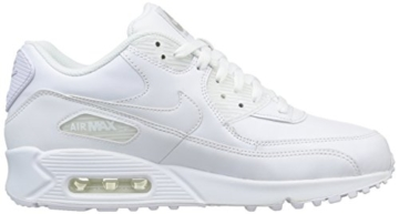 Nike Air Max 90 Leather Herren Sneakers, weiß (white/white), 43 EU - 12