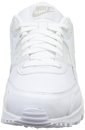 Nike Air Max 90 Leather Herren Sneakers, weiß (white/white), 43 EU - 2