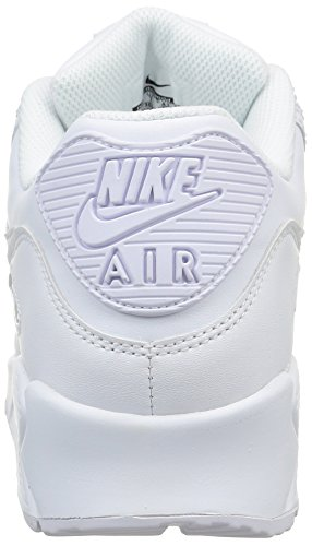 Nike Air Max 90 Leather Herren Sneakers, weiß (white/white), 43 EU - 3