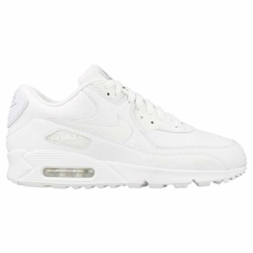 Nike Air Max 90 Leather Herren Sneakers, weiß (white/white), 43 EU - 4