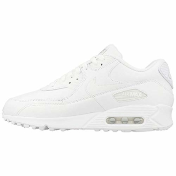 Nike Air Max 90 Leather Herren Sneakers, weiß (white/white), 43 EU - 5