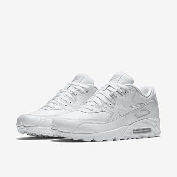 Nike Air Max 90 Leather Herren Sneakers, weiß (white/white), 43 EU - 6
