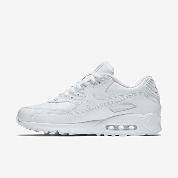 Nike Air Max 90 Leather Herren Sneakers, weiß (white/white), 43 EU - 8