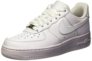 Nike Damen WMNS AIR Force 1 '07 Sneaker, Weiß (White/White), 40.5 EU - 1