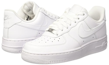 Nike Damen WMNS AIR Force 1 '07 Sneaker, Weiß (White/White), 40.5 EU - 11