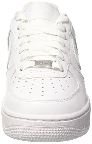 Nike Damen WMNS AIR Force 1 '07 Sneaker, Weiß (White/White), 40.5 EU - 2