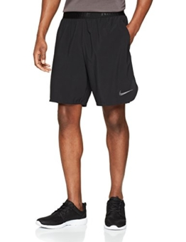 Nike Herren Flex 21cm Training Shorts, Black/Metallic Hematite, L - 1