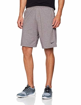 Nike Herren M NK DRI-FIT Cotton Shorts, Gunsmoke/Heather/Black, M - 1