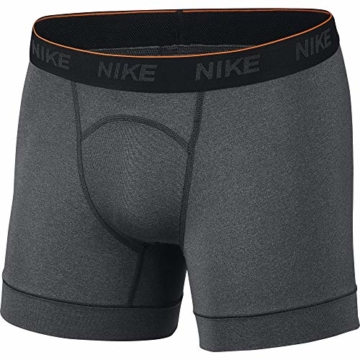 Nike Herren Trainings Boxershorts, 2er Pack, grau (Anthracite/White), L - 1