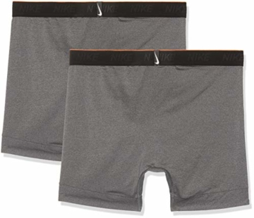 Nike Herren Trainings Boxershorts, 2er Pack, grau (Anthracite/White), L - 2