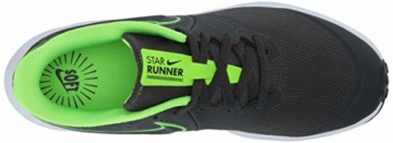 Nike Unisex-Kinder Star Runner 2 (GS) Sneaker, Grau (Anthracite/Electric Green-White 004), 39 EU - 8
